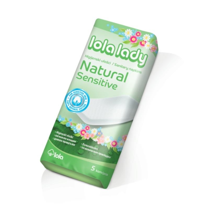 Higijenski ulošci Lola Lady Natural Sensitive 5komada