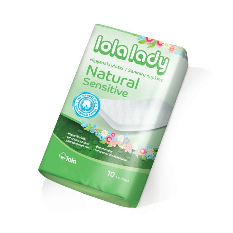 Higijenski ulošci Lola Lady Natural Sensitive 10 koamda