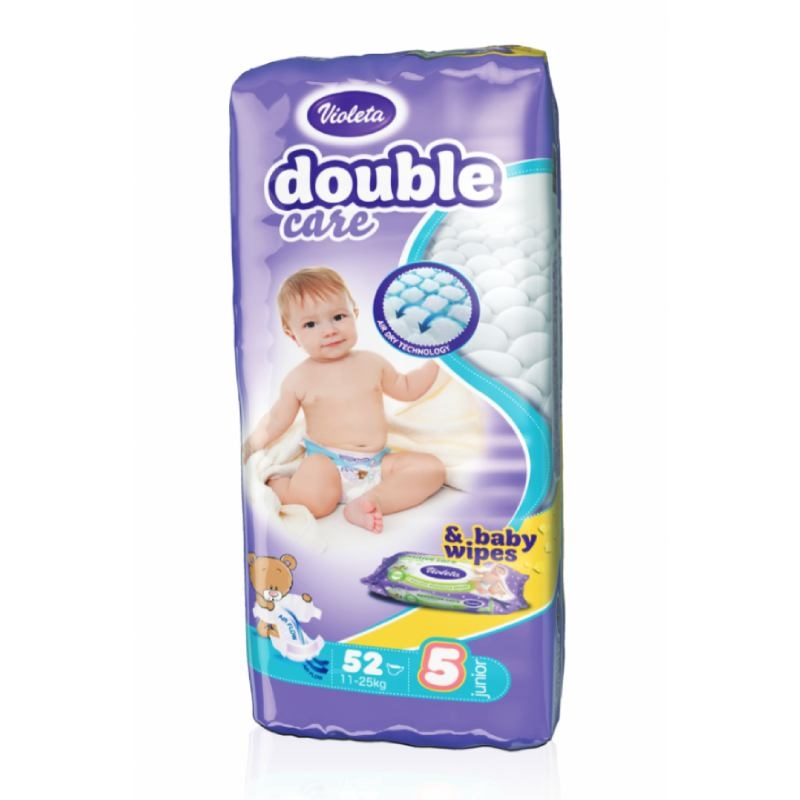 Violeta Double Care Air Dry pelene junior jumbo 11-25kg