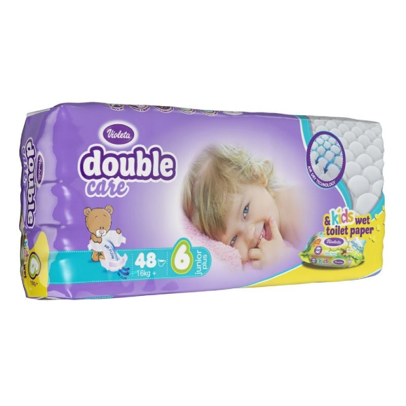 Violeta Double Care Air Dry pelene junior plus jumbo 16kg
