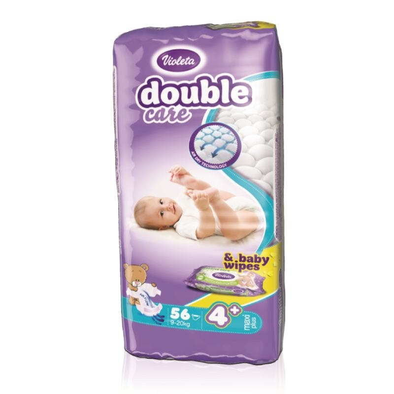 Violeta Double Care Air Dry pelene maxi plus jumbo 9-20kg