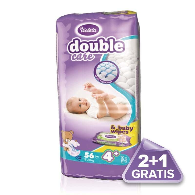 2plus1 Violeta-Double-Care-Air-Dry-pelene-maxi-plus-jumbo-9-20kg