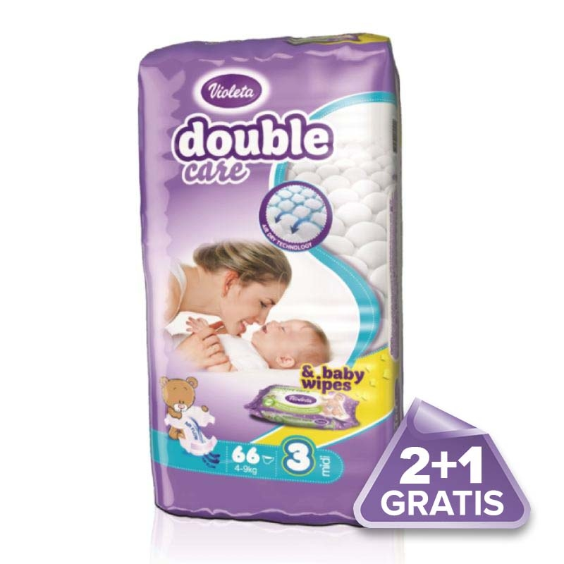 2plus1 Violeta-Double-Care-Air-Dry-pelene-midi-jumbo-4-9kg