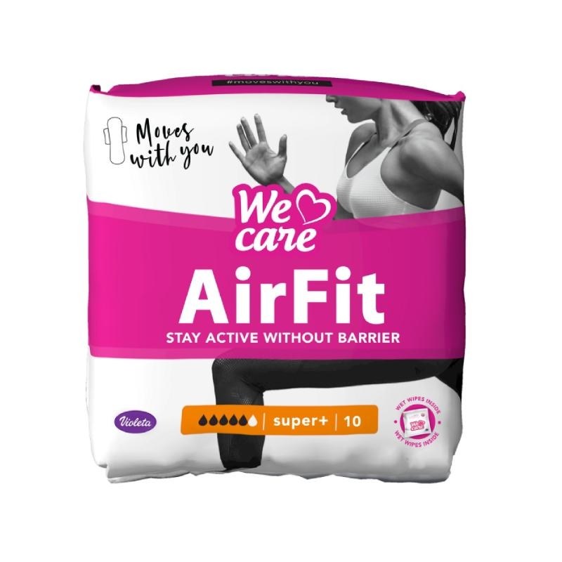 Violeta We Care Air Fit super+ higijenski ulošci, 10 kom