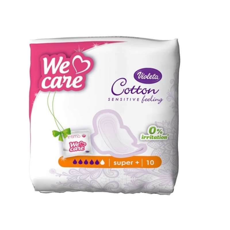 Violeta We Care Cotton super+ higijenski ulošci, 10 kom