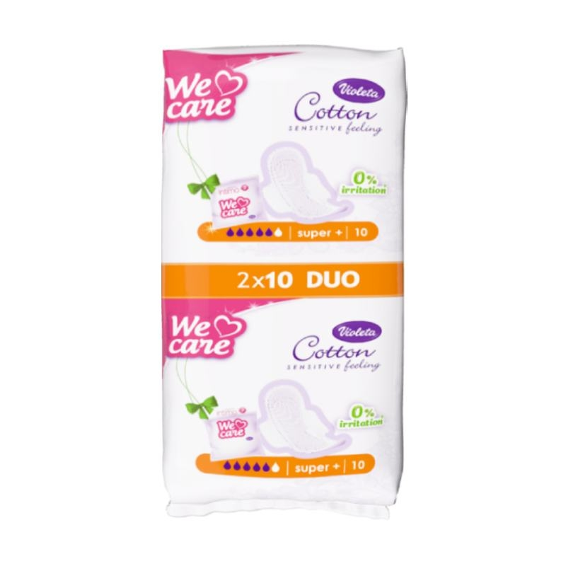 Violeta We Care Cotton super+ higijenski ulošci, 20 kom