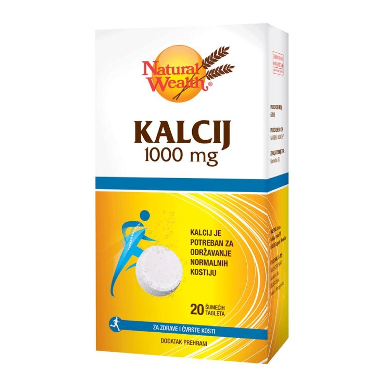 Natural Wealth Kalcij 1000 mg šumeće