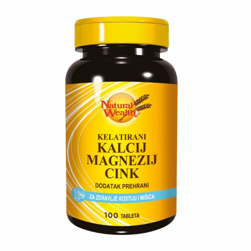 Natural Wealth Kelatirani Kalcij Magnezij Cink 100 tableta