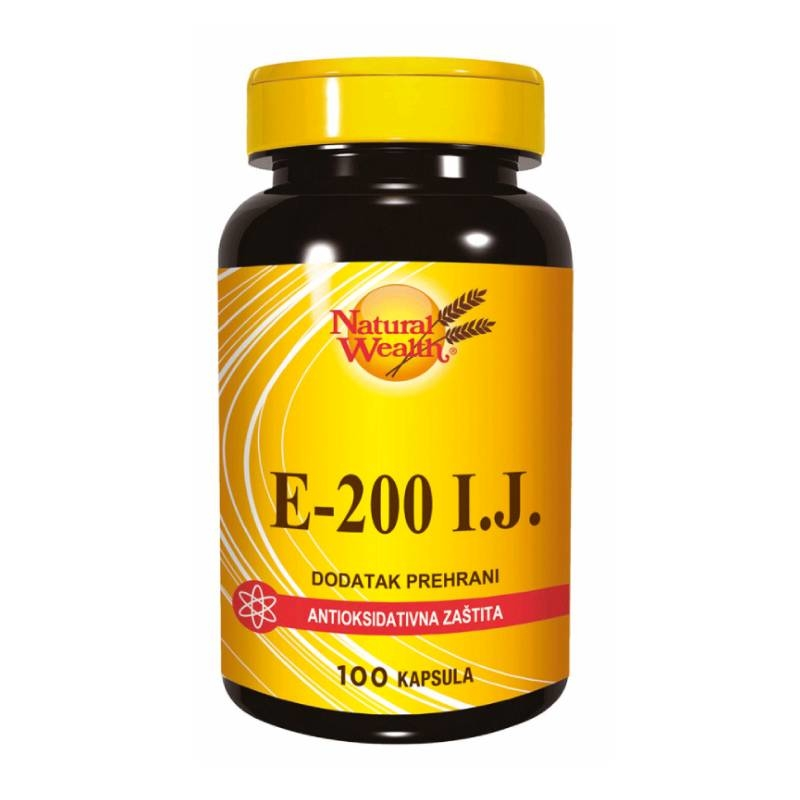 Natural Wealth Vitamin E-200 I.J.