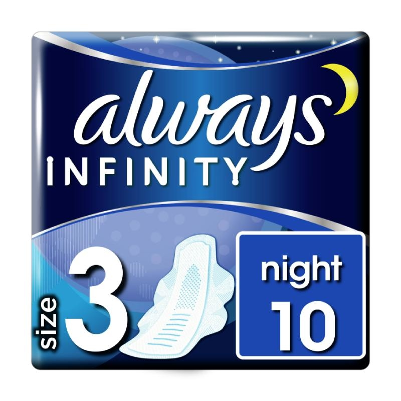 Always Infinity Night higijenski ulošci 10 komada
